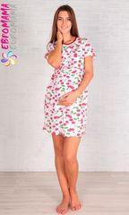 Евромама. Сорочка для беременных и кормящих 54 раз, вишня