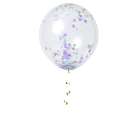 Воздушные шары с конфетти, пастель, 8 шт.