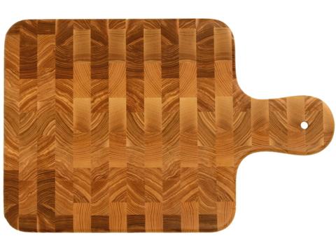 деревянная Торцевая разделочная доска 45х30х3 см ясень