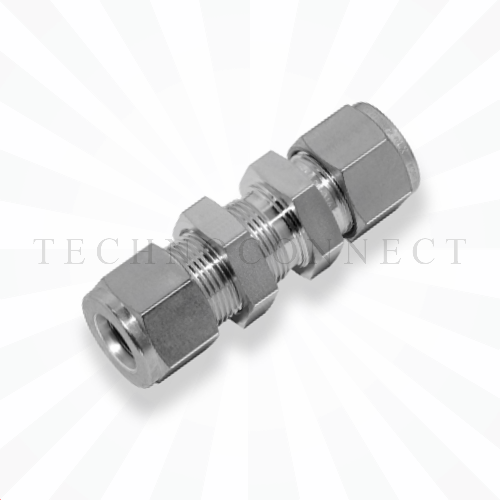 CBU-15M  Соединитель панельного монтажа: метрическая трубка  15 мм - метрическая трубка   15 мм