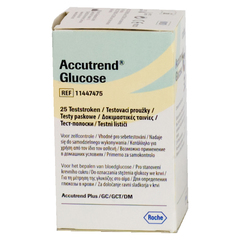 Тест-полоски Аккутренд (Accutrend) глюкоза №25