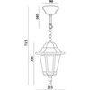 Светильник садово-парковый, 100W 230V E27 белый, 6205 (Feron)