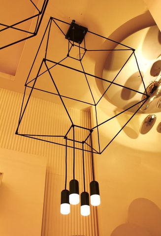 replica  Wireflow 3D Square Pendant Light