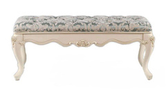 Банкетка Милано 120 ткань узор (MK-1832-IV) Слоновая кость