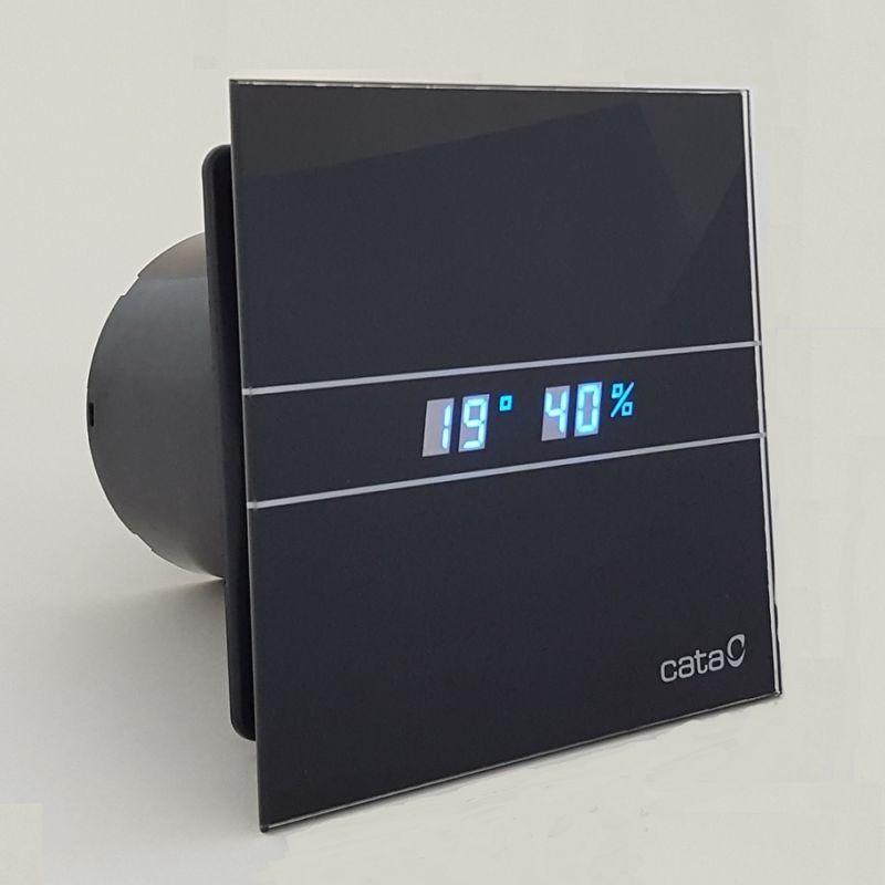 Каталог Вентилятор накладной Cata E 100 GTH Bk Черный, с обратным клапаном (таймер, датчик влажности, термометр, дисплей) __3.jpg