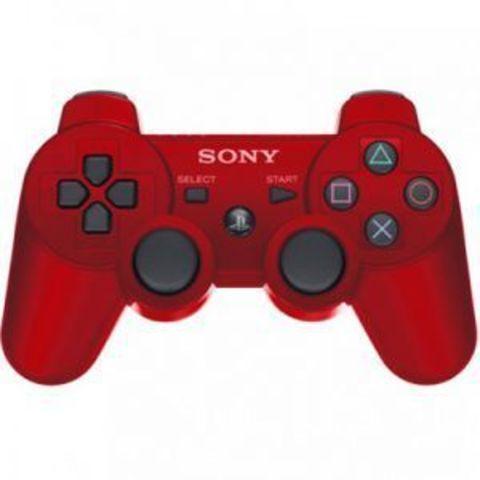 PS3 Контроллер игровой беспроводной (красный, копия)