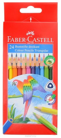 Трехгранные цветные карандаши D75, в картонной коробке, 12 шт. FaberCastell