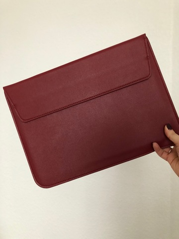 Папка конверт для MacBook PU sleeve bag 15'' /wine red/