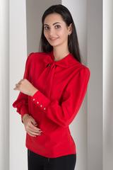 Маркиза. Красивая блуза с бантом. Красный