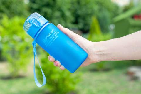 Бутылка для воды Powcan 400 мл - Blue матовая