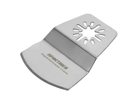 Насадка для МФИ ПРАКТИКА шабер полукруг, Inox, для снятия краски и др., 74 мм (240-379)
