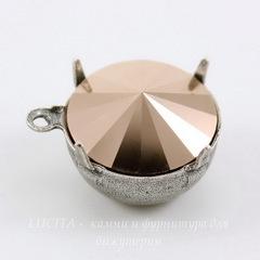 Сеттинг - основа - подвеска для страза 14 мм (оксид серебра)