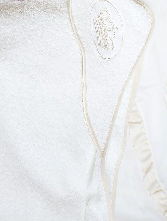 Полотенца Полотенце детское 100х100 Luxberry Queen с капюшоном белое/бежевое detskoe-mahrovoe-polotentse-s-kapyushonom-queen-ot-luxberry.jpg