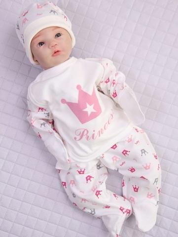 Комплект Princess + колпачок (кремовый/розовый)