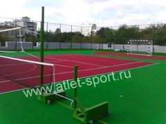 Стойки мобильные универсальные с противовесом 100 кг. (комплект для волейбола/бадминтона/тенниса).