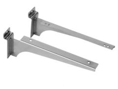 Кронштейн для экономпанели (для полки), толщина 1,5 мм хром , 300 мм ЭП 227