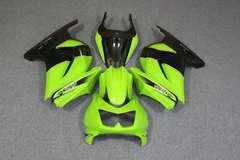 Комплект пластика для мотоцикла Kawasaki Ninja 250R Зелено-Чёрный