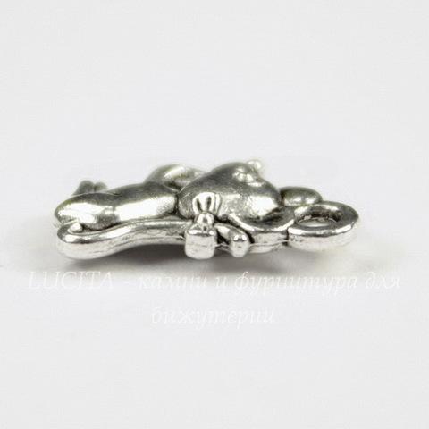"Подвеска ""Мышка"" 12х7 мм цвет - античное серебро)"