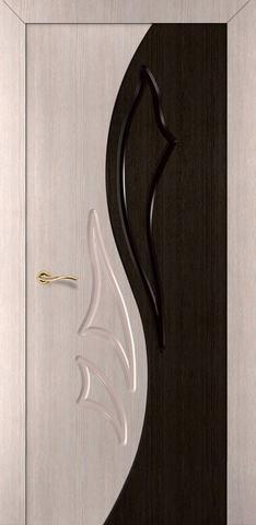 Дверь Румакс Элегия-дуэт 2 ДГ, цвет беленый дуб/дуб мореный, глухая