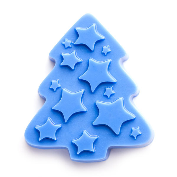 Пластиковая форма для мыла Елка со звездами