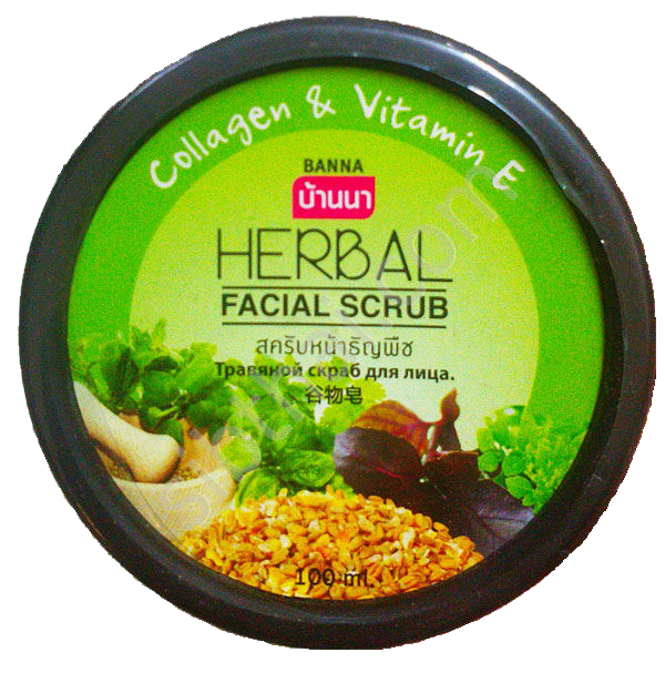 Banna Скраб для лица с Травами Herbal Facial Scrub, 100 мл