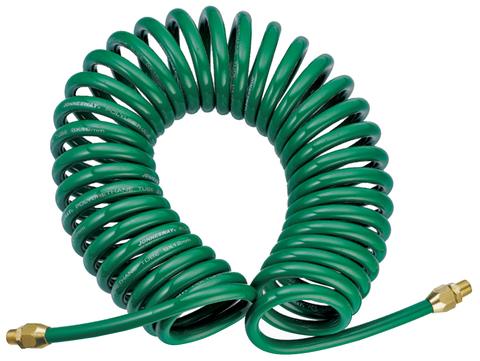 JAZ-7214E Шланг полиуретановый спиральный для пневматического инструмента 5х8 мм, 8 м