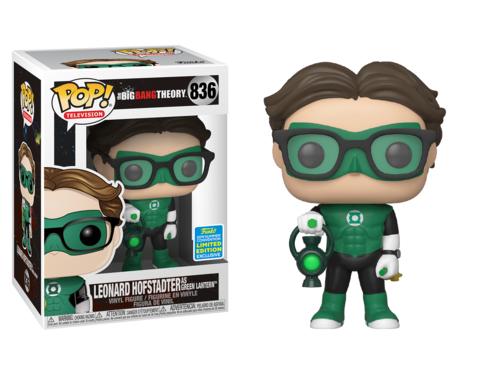 Фигурка Funko Pop! TV: The Big Bang Theory - Leonard Hofstadter as Green Lantern (Excl. to San Diego Comic Con)