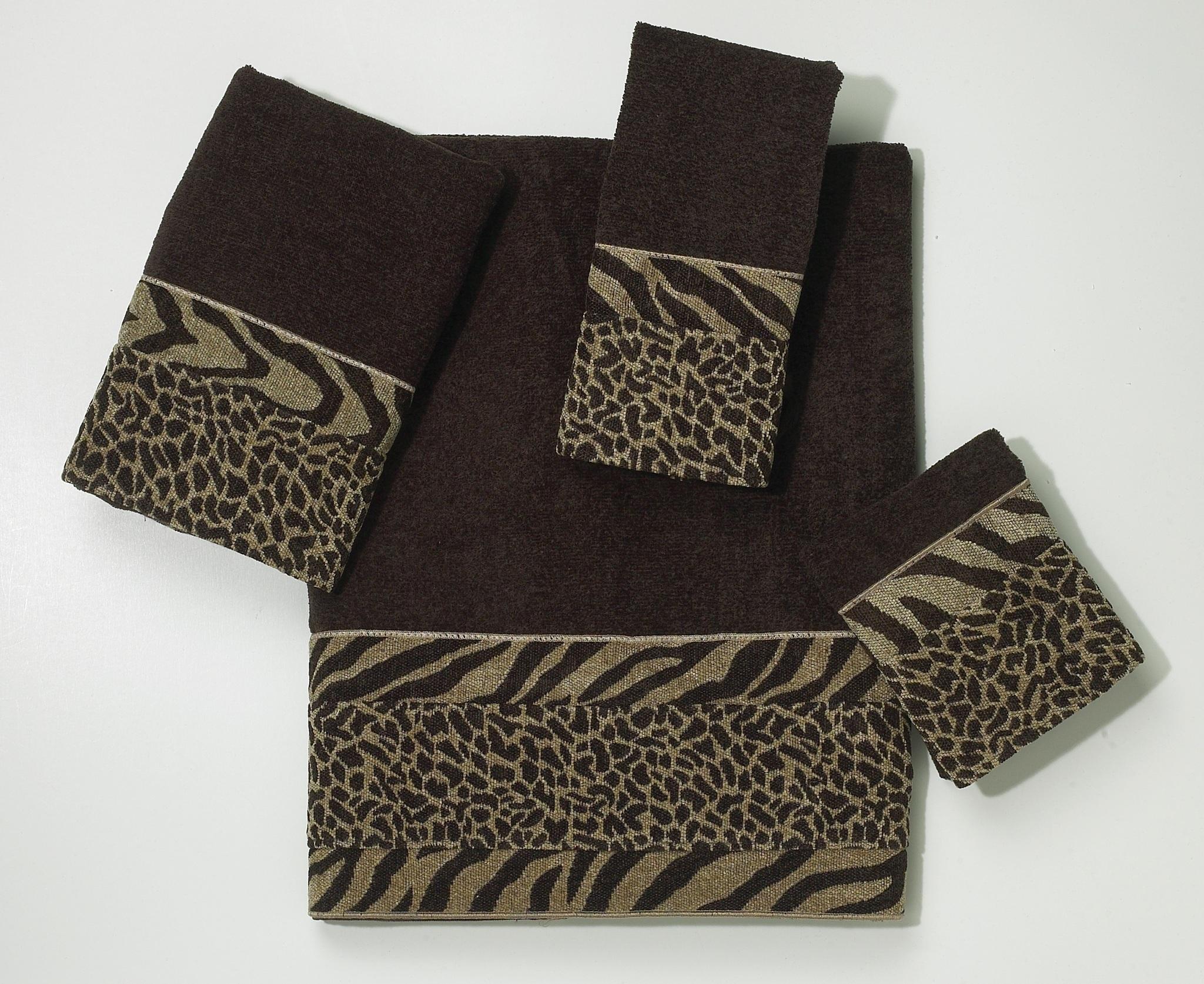 Полотенце 69х127 Avanti Cheshire темно-коричневое