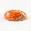 Кабошон овальный Яшма Императорская оранжевая (прессов., тониров), 25х18 мм