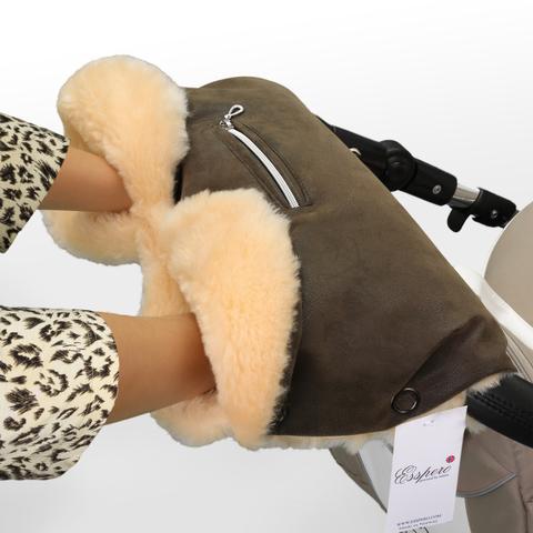 Муфта Esspero Isabella для рук на коляску (100% овечья шерсть)