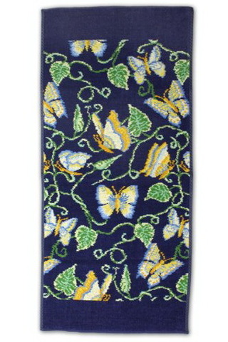 Элитный плед шенилловый Butterfly синий от Feiler