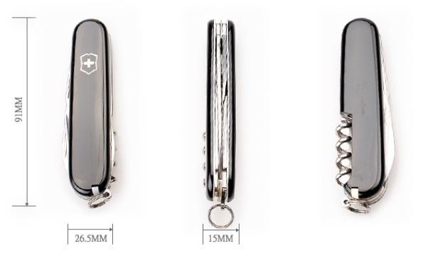 Складной нож Victorinox Spartan (1.3603.3) 91 мм., 12 функций, чёрный - Wenger-Victorinox.Ru