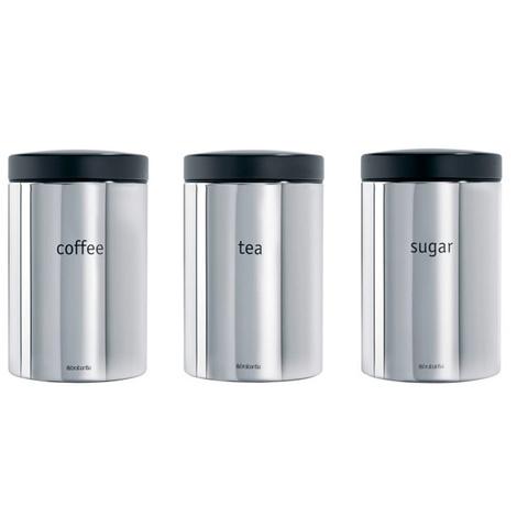Набор контейнеров для сыпучих продуктов (1,4 л), 3 шт., Стальной полированный, арт. 204166 - фото 1