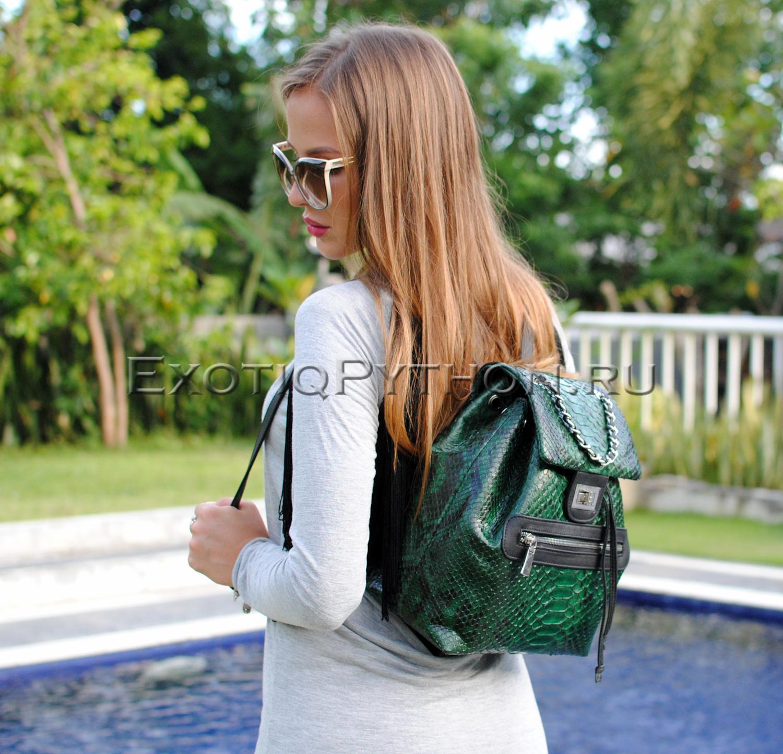 Рюкзак из кожи питона CL-187