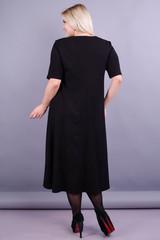 Лазурь. Элегантное женское платье больших размеров. Сирень.