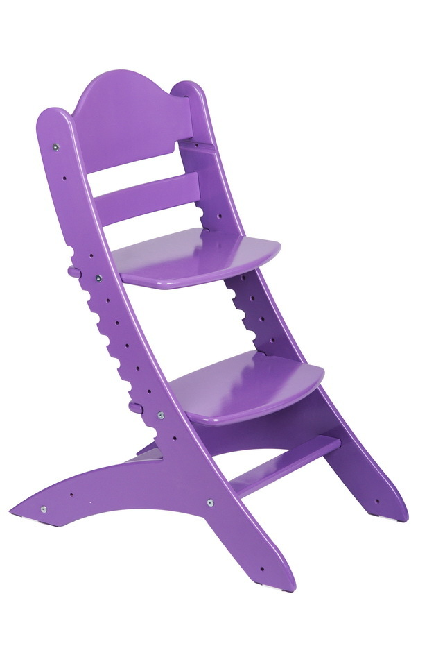 Детский растущий стул Два кота М1 Фиолетовый