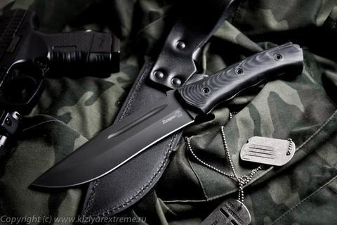 Тактический нож Катран Черный Микарта