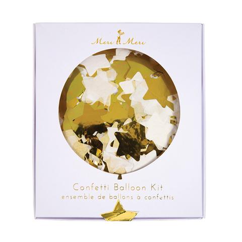 Воздушные шары с конфетти, золото