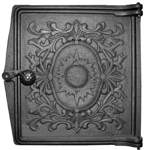 Дверка топочная печная ДТ-4 Литком 291×296х67мм (250х280х36мм)