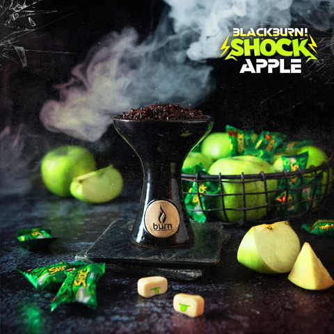 Табак Burn BLACK 20 г Apple Shock
