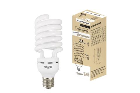 Лампа люминесцентная НЛ-HS-85 Вт-4000 К–Е40