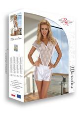 Комплект эротического белья с кружевным топом и шортами