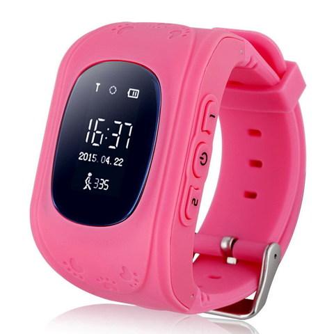 Детские часы с GPS трекером Smart Baby Watch Q50 (Розовый)