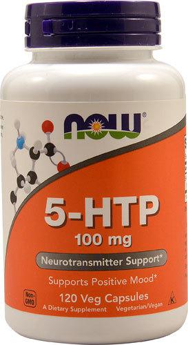 5-гидрокситриптофан (5-HTP) NOW 5-HTP -- 100 mg - 120 Veg Capsules NOW-5-HTP-733739001061.jpg