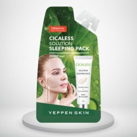 DERMAL Маска для лица ночная ЦЕНТЕЛЛА YEPPEN SKIN CICALESS SOLUTION SLEEPING PACK 10гр