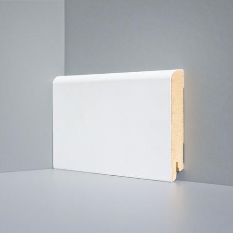 Белый ламинированный плинтус DEARTIO U102-100