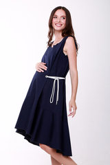 Платье для беременных цвет синий