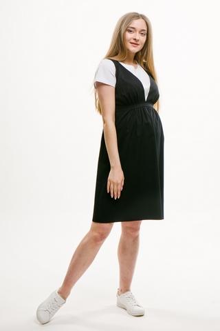 Сарафан для беременных 08576 синий