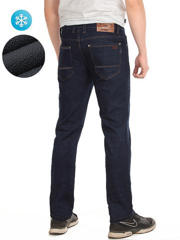 7702 джинсы мужские утепленные, темно-синие