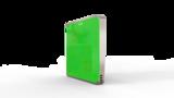 Выключатель пятиканальный Heltun (Зелёная панель, Серебристая рамка)
